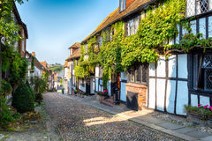 Picturesque Cobbled Street Stock Photos