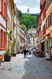 Picturesque Cobblestone Street in Heidelberg Stock Image