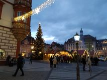 The picturesque Coburg, Germany, at Christmas stock photography