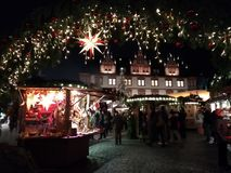 The picturesque Coburg, Germany, at Christmas royalty free stock photo