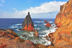Picturesque colorful cliffs and islands Royalty Free Stock Images