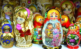 Picturesque colorful dolls Royalty Free Stock Photography