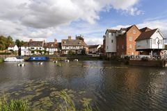 Picturesque Gloucestershire - Tewkesbury. A picturesque corner by Abbey Mill in the town of Tewkesbury, Gloucestershire, Severn Vale, UK Stock Photography