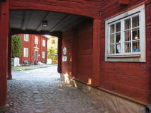 Picturesque corner in Gamla Linkoping. Linkoping. Sweden royalty free stock photos