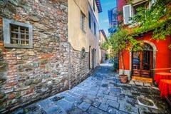 Picturesque corner in Montecatini Stock Image