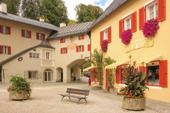 Picturesque corner in the old town. Berchtesgaden.Germany Royalty Free Stock Photos