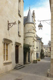 Picturesque corner in the old town. Chinon. France Royalty Free Stock Images