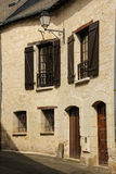 Picturesque corner in the old town. Chinon. France Royalty Free Stock Photography