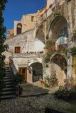 Old town. Matera. Basilicata. Apulia or Puglia. Italy. Picturesque corner in the old town. Matera. Basilicata. Apulia or Puglia . Italy royalty free stock image