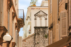 Picturesque corner in the old town. Zadar. Croatia. Stock Photography