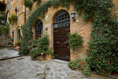 Picturesque corner of a quaint hill town in Italy Royalty Free Stock Images