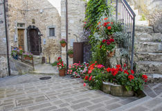 Picturesque corner of a small town in Italy Royalty Free Stock Photo