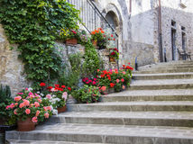 Picturesque corner of a small town in Italy Stock Photos