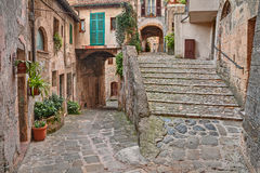 Picturesque corner in Sorano, Grosseto, Tuscany, Italy Stock Photos