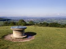 Picturesque Cotswolds - Severn Vale. Topograph viewpoint over Severn Vale from Standish Woods near Stroud, Cotswolds, Gloucestershire, UK Royalty Free Stock Photography