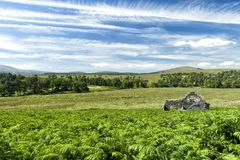 Picturesque Cottage in Dublin Mountains. Abandoned farmhouse in the Dublin Mountains and location where the popular TV show `Vikings` is filmed stock photography