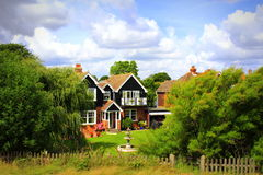 Picturesque countryside houses view Kent England Royalty Free Stock Photos