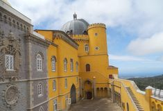 The picturesque Da Pena palace stock photography
