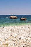 Picturesque Damouchari beach at Pelion in Greece Royalty Free Stock Photography