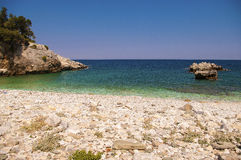 Picturesque Damouchari beach at Pelion in Greece Stock Photo