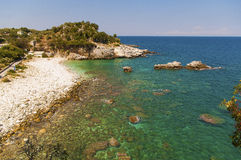 Picturesque Damouchari beach at Pelion in Greece Royalty Free Stock Photo