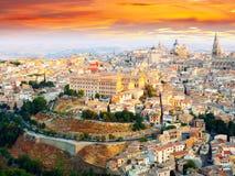 Picturesque dawn view of Toledo Stock Photos