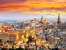 Picturesque dawn view of Toledo Stock Image
