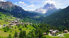 Picturesque Dolomites  landscape.  Stock Photo