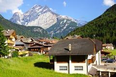 Picturesque Dolomites  landscape. Canazei Royalty Free Stock Photos