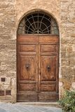 Picturesque door of Tuscany Stock Photography