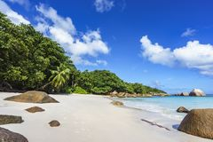 Stunning paradise beach at anse lazio, praslin, seychelles 90 Royalty Free Stock Photography