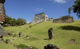 Picturesque Dubuc castle in Martinique Stock Images