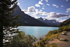 Picturesque emerald lake in mountains Stock Image