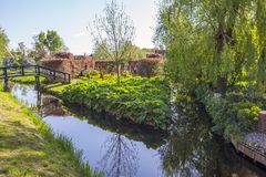 A picturesque ethnographic village. Zanes-Schans. Netherlands Stock Photos