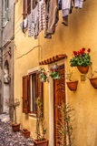Picturesque facade in Alghero old town Royalty Free Stock Photography