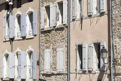 Picturesque facade of a residential home in France Stock Photo