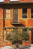 Picturesque facade of a residential home in Rome, Italy Royalty Free Stock Photos