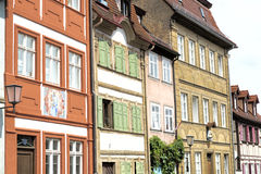 Picturesque facade in the town of Bamberg, Germany Royalty Free Stock Photos