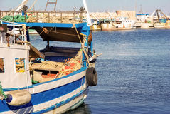 Picturesque fishing boat in harbour Royalty Free Stock Photo