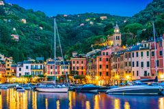 Picturesque fishing village Portofino, Liguria, Italy. Picturesque fishing village and holiday resort Portofino, in the Metropolitan City of Genoa on the Italian stock photography
