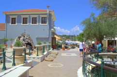 Picturesque Fiskardo village square,Greece Royalty Free Stock Photos