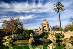 Picturesque fountain in Parc de la Ciutadella in Barcelona Stock Photography