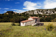Picturesque French Mountain Village of Ampus. Stock Image