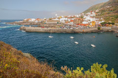Picturesque Garachico town on tenerife island. Royalty Free Stock Photo
