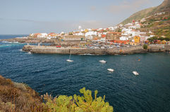 Picturesque Garachico town on tenerife island. Royalty Free Stock Images