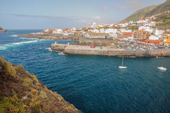 Picturesque Garachico town on tenerife island. Stock Photos