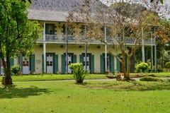 Picturesque garden of Pamplemousse in Mauritius Republic Stock Image