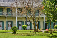 Picturesque garden of Pamplemousse in Mauritius Republic Stock Photo