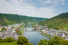 The picturesque German town of Cochem from above. Germany Royalty Free Stock Image