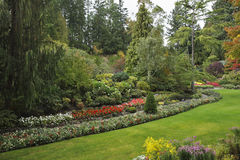 Picturesque  glade in well-known Butchard-garden Royalty Free Stock Images
